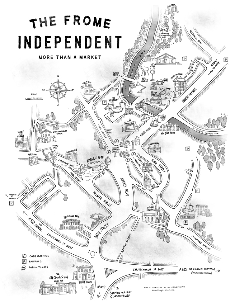 frome independent mkt map